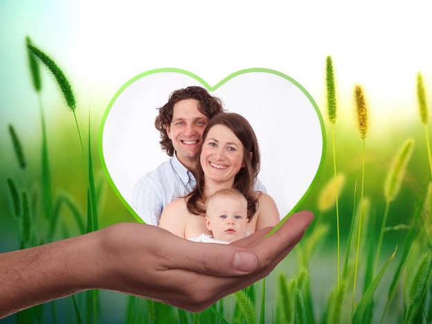 Familie mit Herz